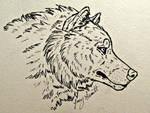 Wolf Head Ink by VorpalBeasta