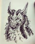 Mightyena Quick Sketch by VorpalBeasta