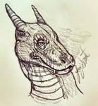 Quick Charizard sketch by VorpalBeasta