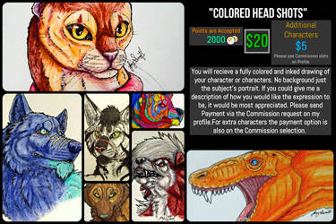 *Open*Colored Head Shots Commission Sheet by VorpalBeasta