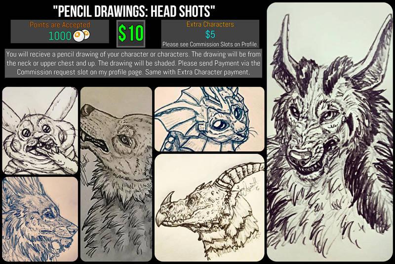 *Open* Pencil Drawings: Head Shots by VorpalBeasta