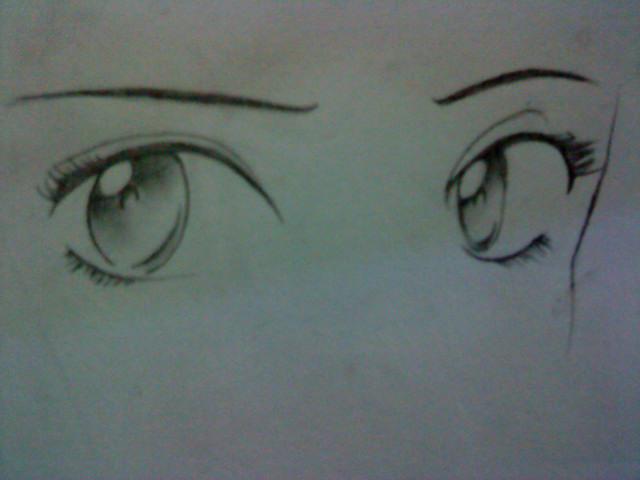 Girl anime eyes by Annisa-Rae