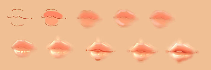How I do Lips by JustNeus