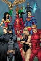 Justice League Color by seanforney