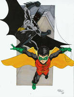 Batman and Robin markers by seanforney