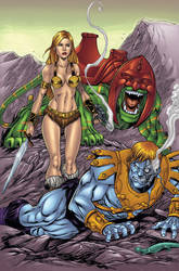 Battleground Teela vs Faker colors by seanforney