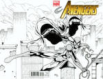 Spider-Man and Moon Knight sketch cover by seanforney