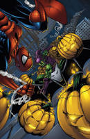 Spider-man vs Green Goblin colors by seanforney