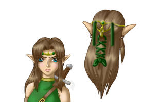 Female Link Concept Art - Head by Art1st4786