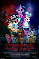 My Little Pony Movie poster (Stranger Things) by EJLightning007arts