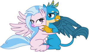 Silverstream Hugging Gallus pt2 by EJLightning007arts