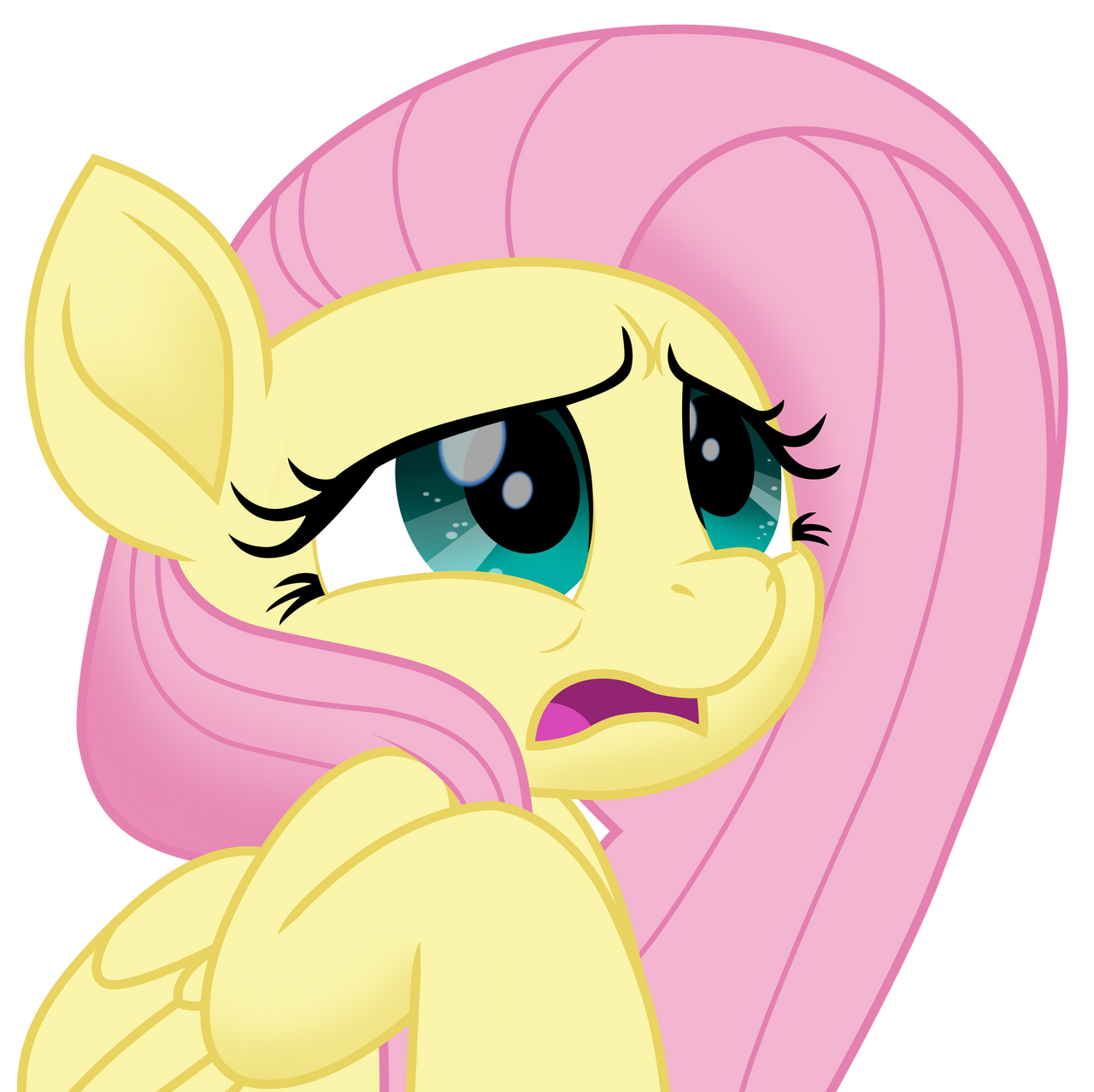 Fluttershy Scared Scared Fluttershy vect...