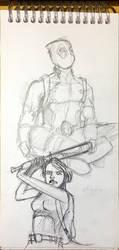 deadpool sketches by icanerdincmer