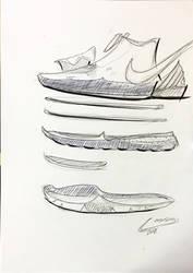 kyrie 5 quick sketch by icanerdincmer