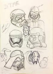 star wars head sketches by icanerdincmer
