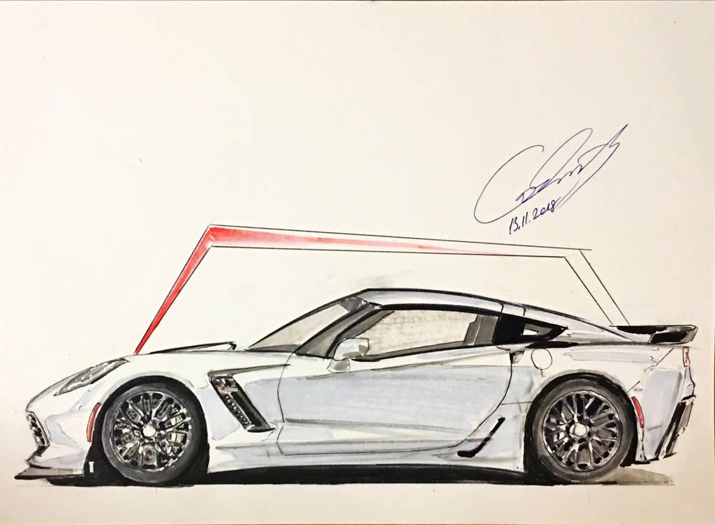 corvette sketch by icanerdincmer