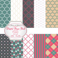 Digital paper pack by PicturesOfPelicans