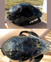 For sale: painted bobcat skull by tourmaline-83