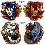 Fall Acrylic Charms - Epsy/Zeta and SIlver/Tira by shivaesyke