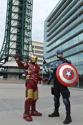 Captain America and Ironman by philorion7
