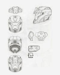Long Bow Spartan helmet design. by philorion7