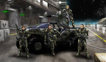 Fireteam Nomad commission for matt67potter by philorion7
