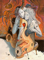 Artist in Love by borda