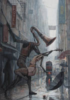 Life is a Dance in The Rain III by borda