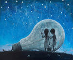 The night we broke the Moon - oil painting by borda