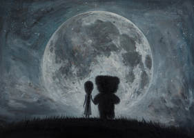 In my dreams you always bring me to the Moon... by borda