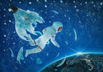 The Birth of The First Astronaut - oil painting by borda