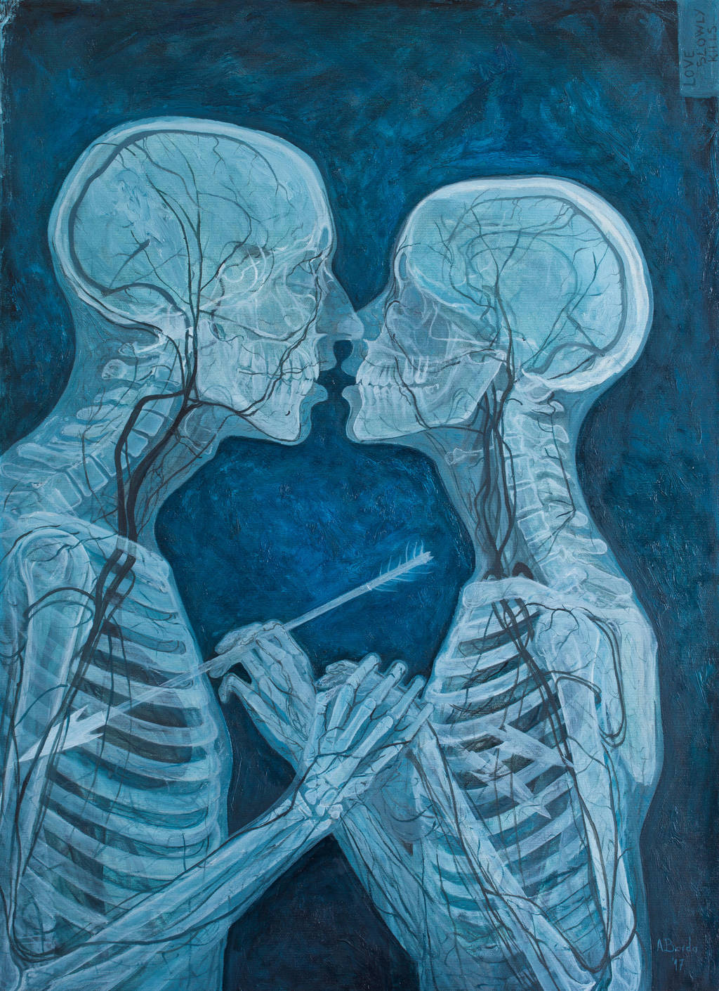 Love Slowly Kills VI - oil painting by borda