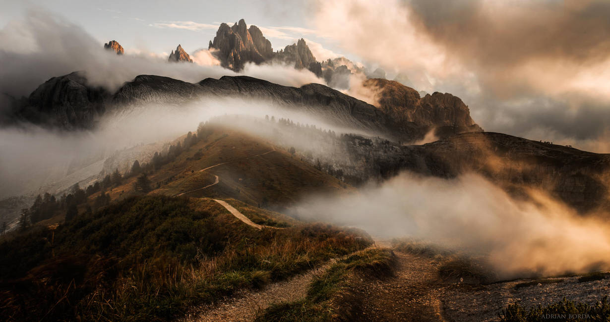 Rolling Clouds in Dolomites by borda