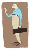 Elderly Violinist by NickSwift