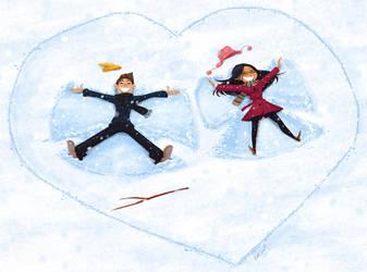 Valentines Snow Angels by NickSwift