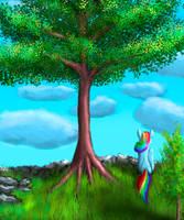 tree near cliff by Vladimir-Olegovych