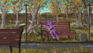 leaf fall twilight by Vladimir-Olegovych
