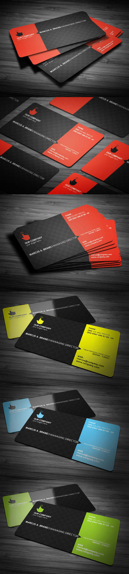 Rounded Corner Business Card by calwincalwin