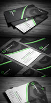 Sleek Corporate Business Card by calwincalwin