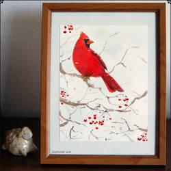 Red Cardinal by Solkeera
