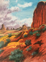 Monument valley painting  by Mavouminibn