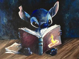 Stitch Disney oilpainting  by Mavouminibn