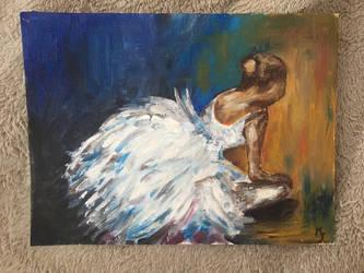 Danseuse peinture  l huile  by Mavouminibn