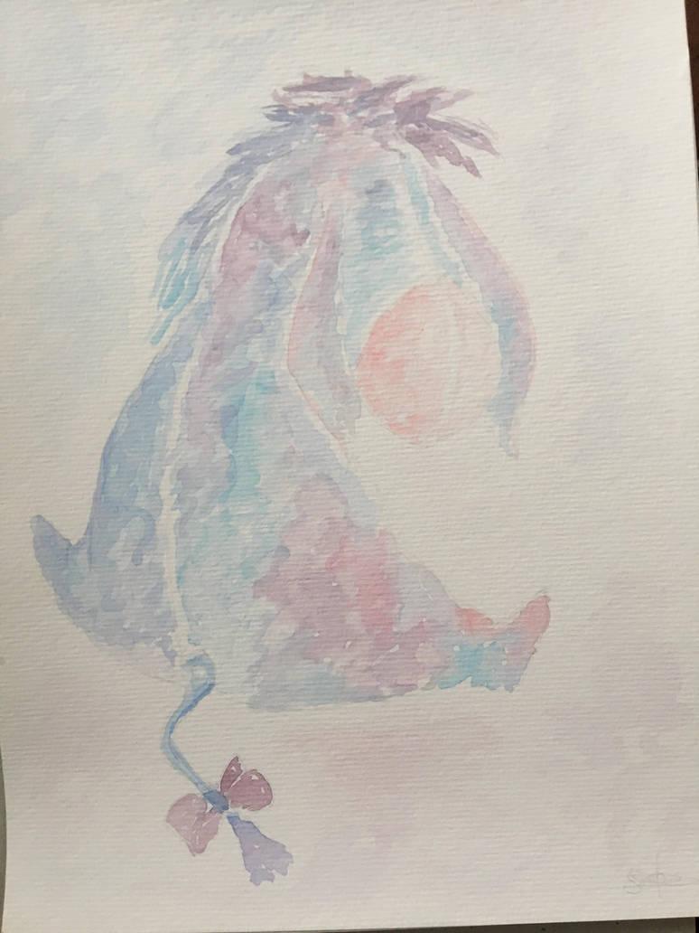 Eeyore watercolor  by Mavouminibn