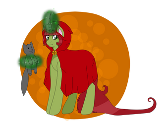 Green Mystery as Red Riding Hood by MiAQ16