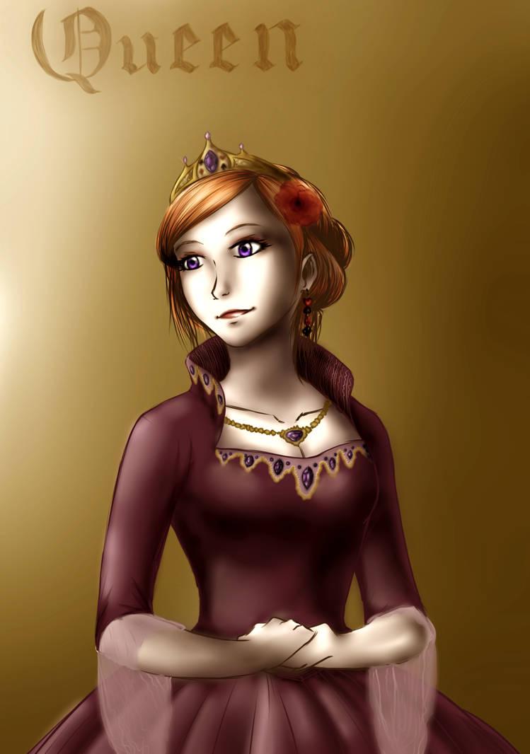 Purple dress by Ogrodniczka