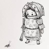Pillow Samurai by dpereirart