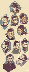 Vimes-and-Vetinari sketch by ZarKir