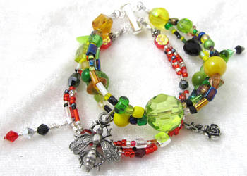 Terrorsoar/Waspinator bundle bracelet by evilkillerpoptarts