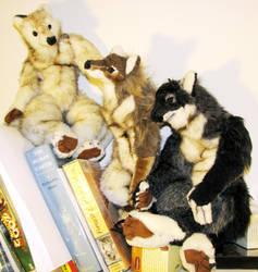 Three Wolf Anthros by Jarahamee